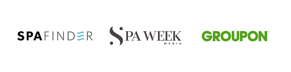 spafinder, spaweek, groupon logos