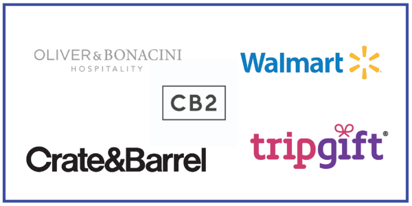 Canada brands now available in the Bonusly Reward Catalog: Oliver & Bonacini Restaurants, Walmart Canada, CB2 Canada, Crate&Barrel Canada, TripGift