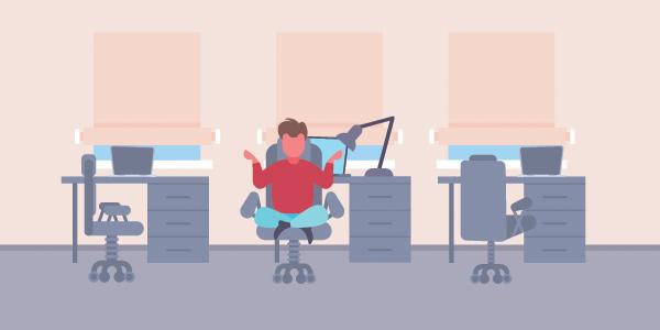 employee-meditating-in-desk-chair