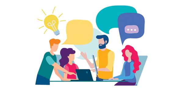 group-of-team-members-talking