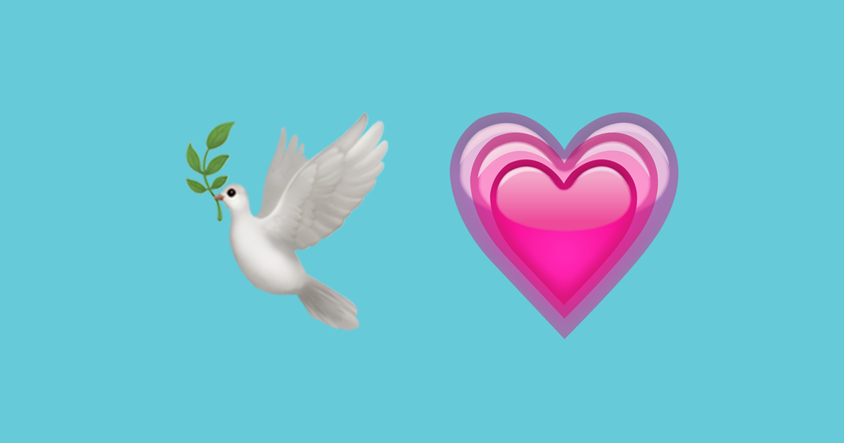 Peace dove and growing heart illustrate International Day of Charity