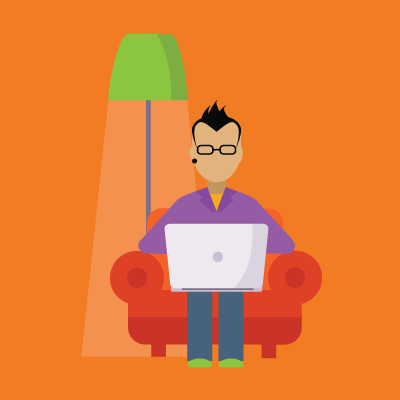remote-work-red-chair