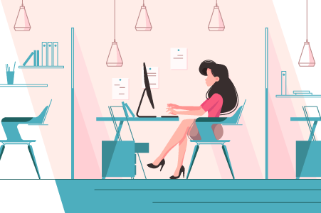 woman-working-at-desk