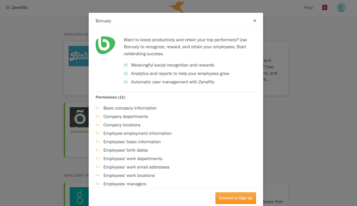 Bonusly Integrates with Zenefits for Automated User Management
