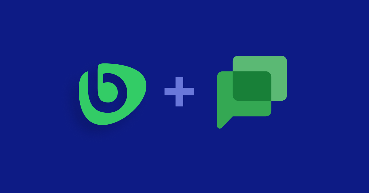 Bonusly integrates with Google Chat to bring fun and easy peer-to-peer recognition into your organization's chatrooms and conversations